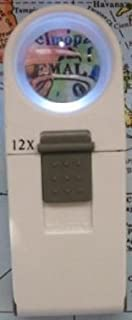 """12X 44D 1.5"""" Round LED Hand Magnifier"""