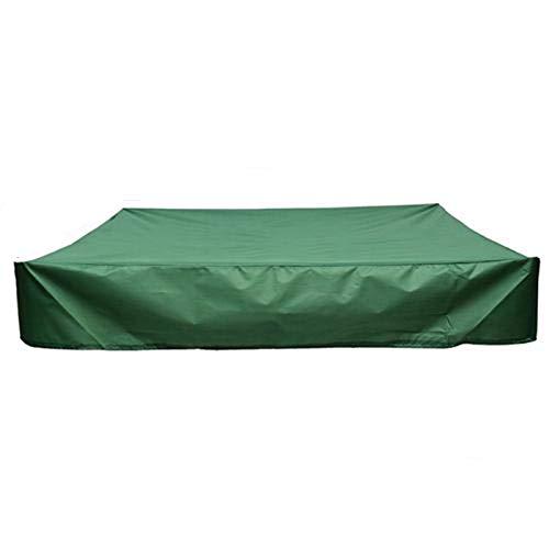 Rubyu - Lona para Cajas de Arena, Impermeable, con Cuerda de tensión, Color Verde, 120 x 120 cm.