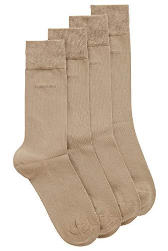BOSS Herren 2P RS Uni CC Mittelhohe Socken aus elastischem Baumwoll-Mix im Zweier-Pack