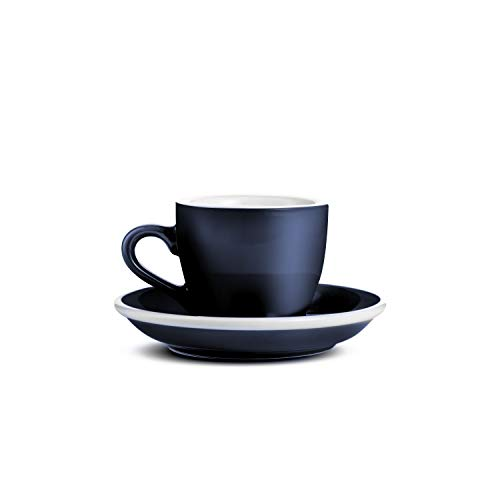 LOVERAMICS Espresso Cup and Saucer Egg Style, 80ml (2.7 oz) (Denim, 6)