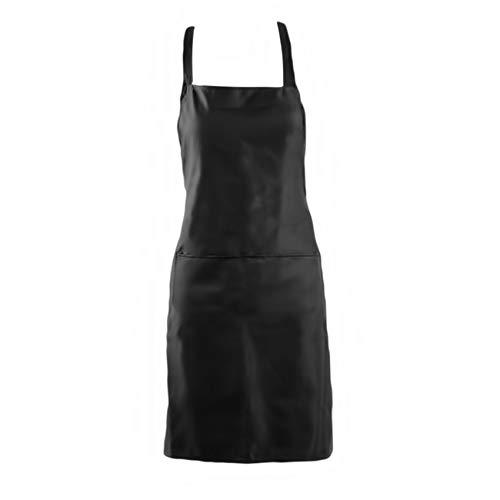 L_shop Verstellbare Küchenschürze Ärmellose Kellnerschürzen für die Verwendung im Restaurant Bistro,Schwarz