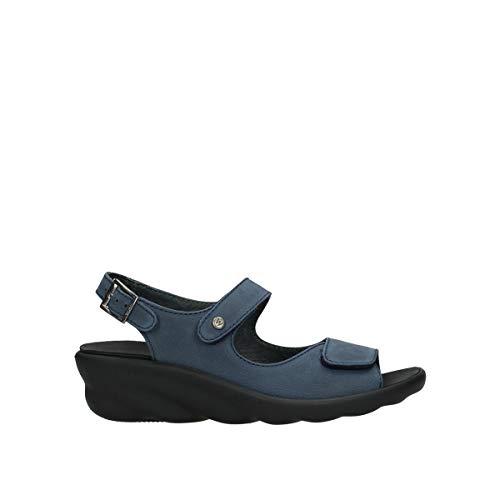 Wolky Comfort Sandalen Scala - 11820 denimblau Nubuck - 40