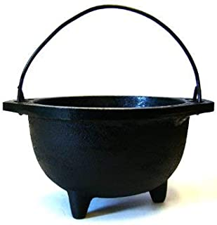 New Age Imports, Inc. F116-BR76 Cast Iron Cauldron w, Ideal for smudging, Incense Burning, Ritual Purpose, Decoration, Candle Holder, etc. (6