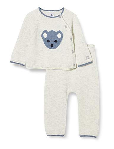 Petit Bateau Baby-Jungen 5645401 Kleidungsset, Beluga China, 12 Monate