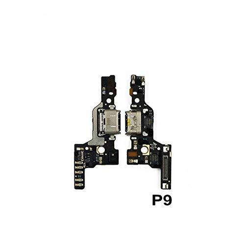 HenShiXin Sensible Nueva Junta de Carga USB Micrófono Módulo For Huawei P9 P10 P20 P30 Pro Carga de reparación de Piezas de Puerto Muelle Cable Flex Plus Lite sólido (Color : P9 P9pro)