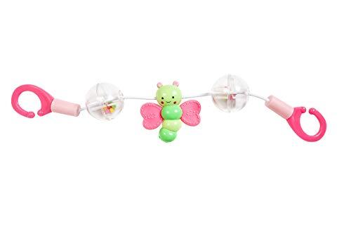 Heless 822 - Rasselkette für den Puppenwagen mit Schmetterling, Länge ca. 28,5 cm, für den Spielspaß unterwegs