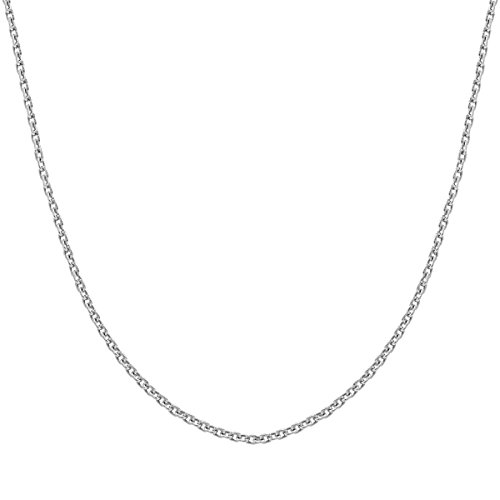 """Honolulu Jewelry Company Sterling Silver 1mm Cable Chain, 14"""" - 36"""""""