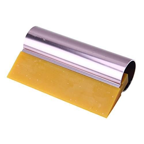 Sticker Werkzeuge MMGZ Auto Auto Körperoberfläche Fenster Wrapping Film Gelber Gummischaber Aufkleber Werkzeug mit Rosa Metall Griff Sind von guter Qualität