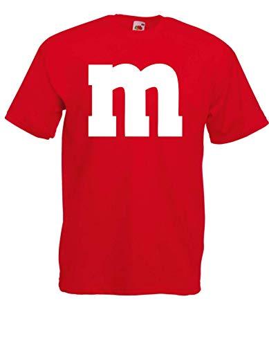 Camiseta  M&M carnaval Gruppen Disfraz Disfraz de carnaval Dardos Unisex rojo XL