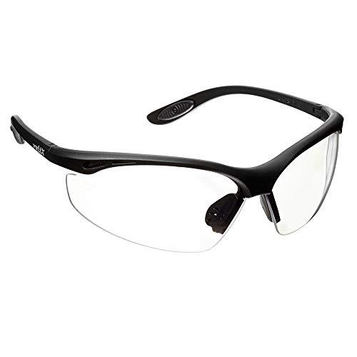 voltX 'Constructor' Wraparound Sicherheitsbrillen/Radsport Sportbrillen (KLAR Keine Vergrößerung) CE EN166F Zertifiziert, Anti-Fog und Anti-Kratzer, UV400 Linse/Safety Glasses