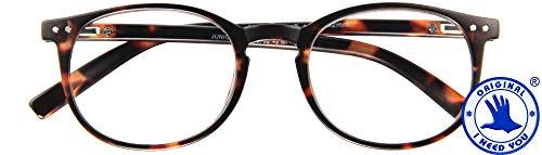 I NEED YOU JUNIOR New, G66700, havanna, Panto-Kunststoffbrille, Metallfederscharnier, havanna, 1.5 Dioptrien