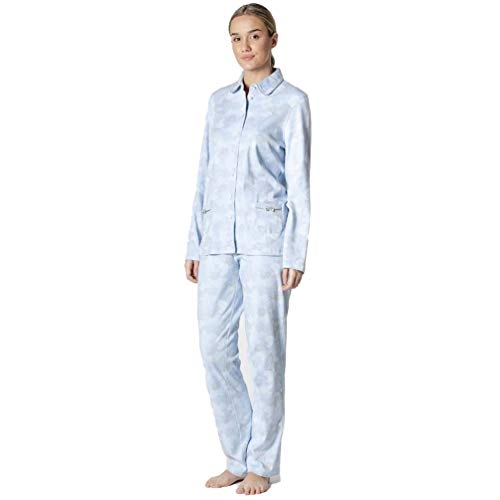 Señoretta Pijama de Mujer Abierto 192172 - Azul, XL