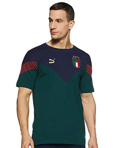PUMA FIGC Iconic MCS tee Camiseta, Hombre, Ponderosa Pine-Peacoat, L