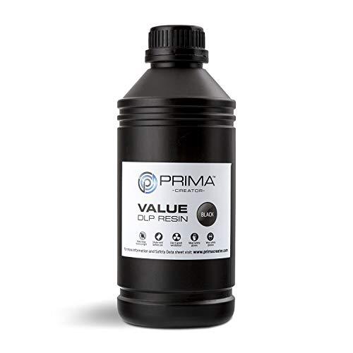 Primacreator Value UV/DLP resina 500ml/1000ml, 1000 ML, Nero, 1