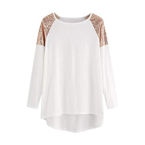 Read About Litetao 2XL White 118570 (Women Wrap Front Tops Plus Size Long Sleeve O Neck V Neck Flora...