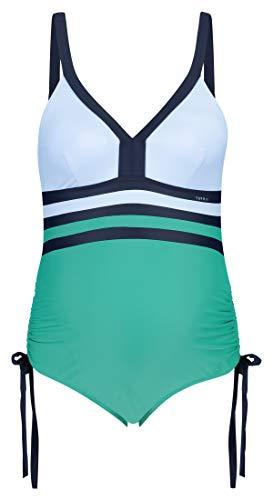 Esprit Maternity Swimsuit Costume Intero Premaman, Multicolore (Emerald Green 305), X-Large Donna