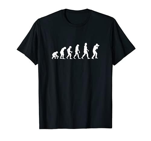 Evolución Fotógrafo Divertida Cámara Hombre Foto Regalo Idea Camiseta