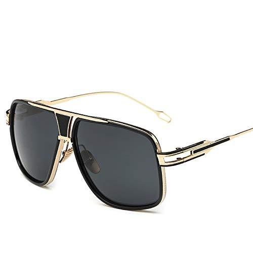 Hombres Retro Gafas De Sol Lente Negra Gafas De Sol para Mujer Gafas De Sol Ligeras para Exteriores para Hombre Gafas De Sol Clásicas Gafas De Sol Gafas De Sol Cuadradas para Conducir Gafas
