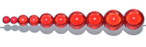 25 Stück 3D miracle beads, rund, 10 mm, acryl, rot, 10 mm