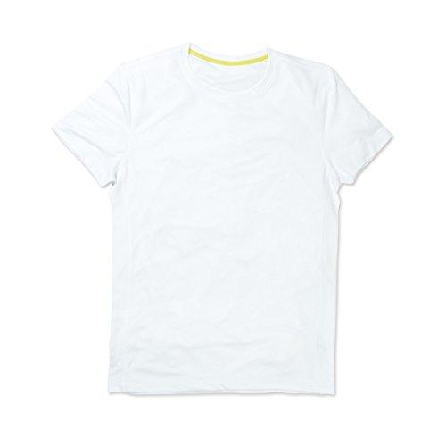 Active by Stedman - T-Shirt à Manches Courtes - Homme (2XL) (Blanc)