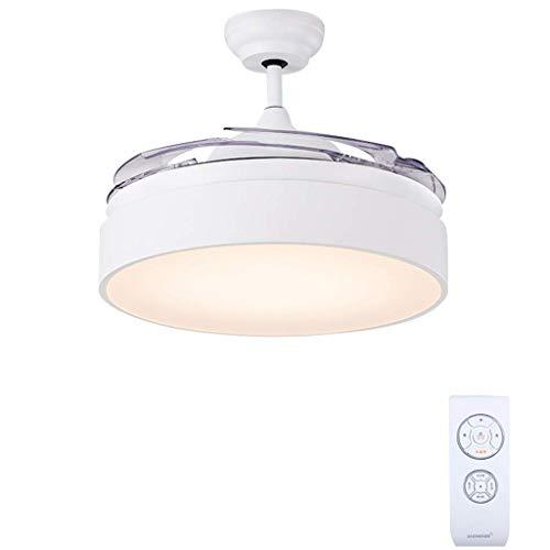 BAIJJ plafondventilator, multifunctioneel, plafondventilator, led-lamp met onzichtbare vleugels en afstandsbediening, stille motor, voor woonkamer, slaapkamer, restaurant