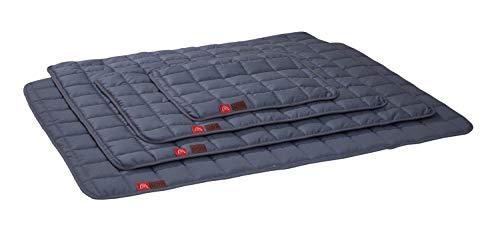 Ilkadim Premium Hundebett Katzenbett 50x65cm bis 100x140cm, Schlafplatz für Katzen und Hunde, grau, bis 95 Grad waschbar (100 x 140 cm)