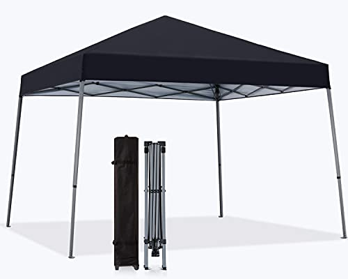 MASTERCANOPY Toldo plegable portátil con base grande (12 x 12, negro)
