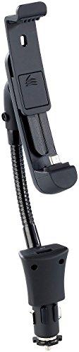 Callstel Handyhalterung fürs Auto: Kfz-Smartphone-Schwanenhals-Halterung, USB-Ladeport, Micro-USB-Stecker (Handyhalterung Auto Schwanenhals)