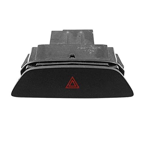ZHENGYI Botón de Interruptor de la luz de Emergencia del Peligro de los automóviles Ajuste para Ford Focus 2017-2019 F1ET13A350AAW (Color : Black)