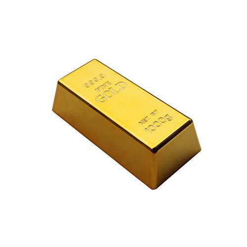 Sarplle Goldbarren Türstopper Simulation Gold Prop Bullion Ziegel Prop Geschenk für Zuhause, Geschäft, Büro(ca.100g)