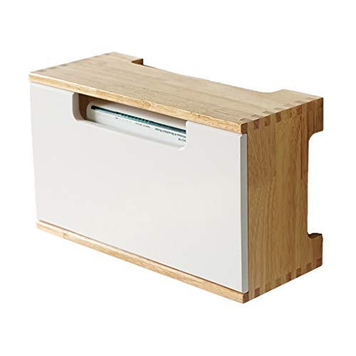 JIE KE Multifunción Solid Wood Router Wall Mount TV Set-Top Box Rack Router Box Caja de Almacenamiento Sala de Estar Organizador Montaje de Pared Montaje Libre Punch