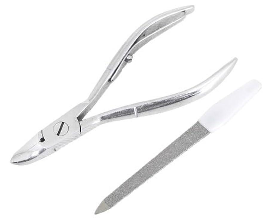 経済信頼性ニッパー型爪切り 爪仕上げヤスリ付 F-21 (スミカマ)