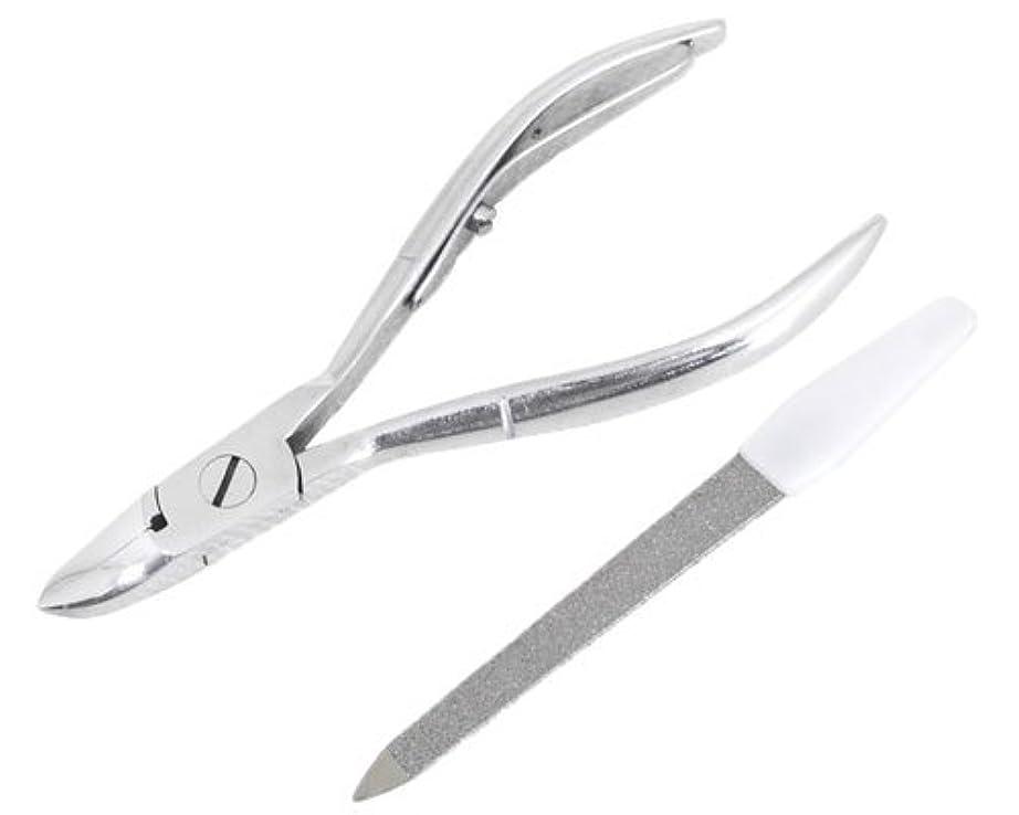 メイド製造給料ニッパー型爪切り 爪仕上げヤスリ付 F-21 (スミカマ)