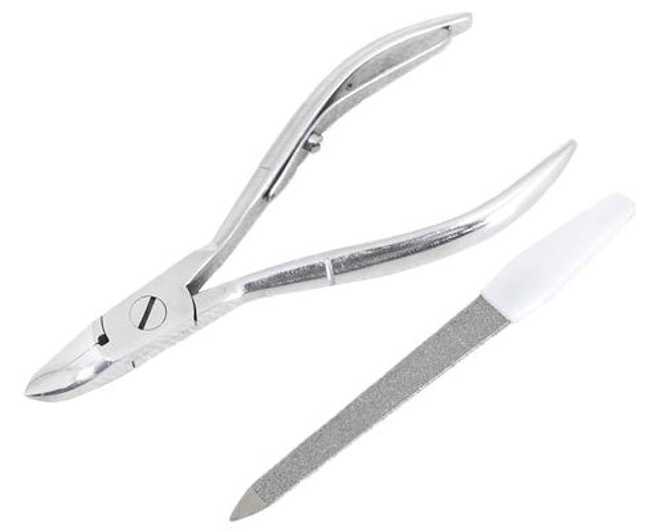 決定する帰するなぜニッパー型爪切り 爪仕上げヤスリ付 F-21 (スミカマ)