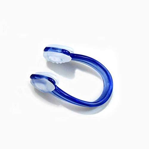 Bequemlichkeit 1PCS Unisex Schwimmen-Nasen-Klipp-weiche Silikon-Nasen-Clips Wasserdicht Nasenklammer for Kinder Erwachsene Wassersport Pool-Zubehör stilvolle Ausstattung (Color : Blue)