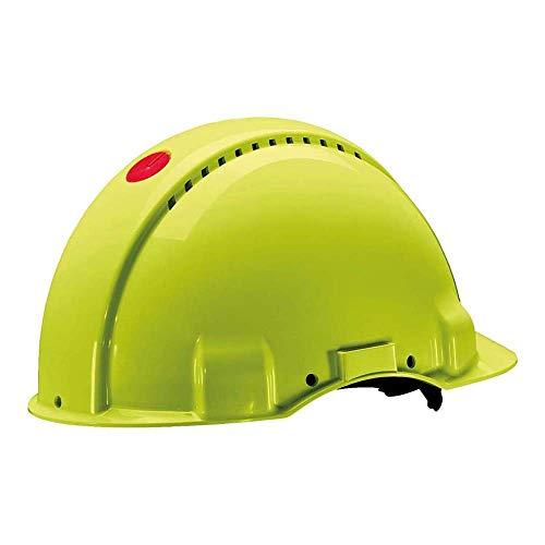 3M Peltor G30NUV Casco de Seguridad con Ventilación, Arnés de Ruleta y Banda Sudor de Plástico, 1 Casco/Caja, Verde