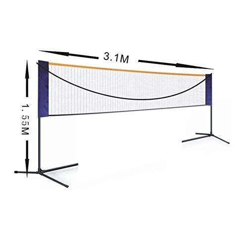 Dongbin Tragbare Standard-Badminton Net-Set Für Tennis, Pickleball, Kinder Volleyball - Easy Setup Sport Net Mit Polen - Für Innen- Oder Außenplatz, Strand, Auffahrt