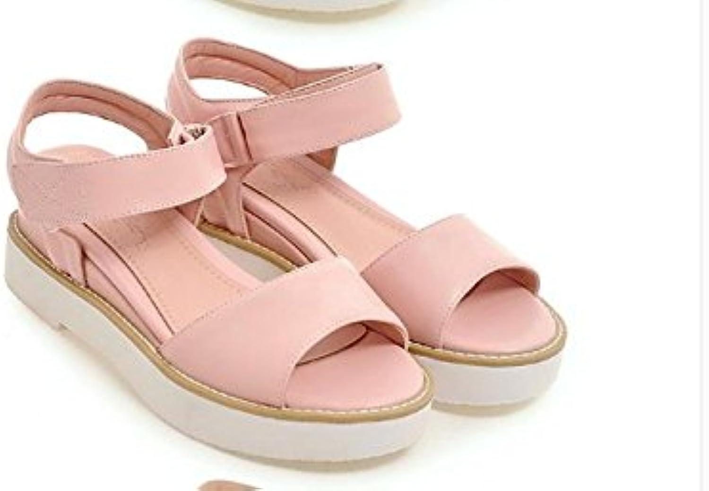 WHW Women's Flat Heel Flip Flops Comfort Outdoor Office Career Dress sandals,37,pink red