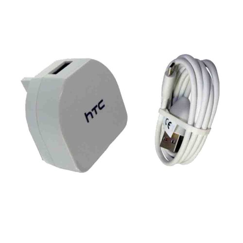 HTC TC B270 Genuine Mains USB Charger and Micro Data Cable for Smartphone -...