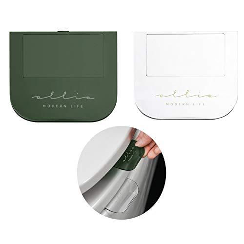 2 piezas de elevador de manija y tapa para asiento de inodoro, mango práctico, elevador de asiento de inodoro (evita manchas y gérmenes de baño, estilo de vida limpio y...
