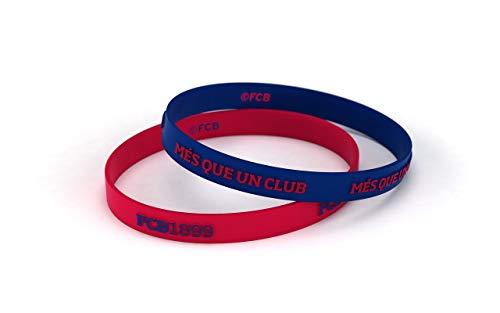 Pulsera Fútbol Club Barcelona Relieve Azulgrana Junior para Mujer y Niño | Pulsera Barça de silicona primera equipación | Apoya al FCBarcelona con un producto oficial culé |FCB