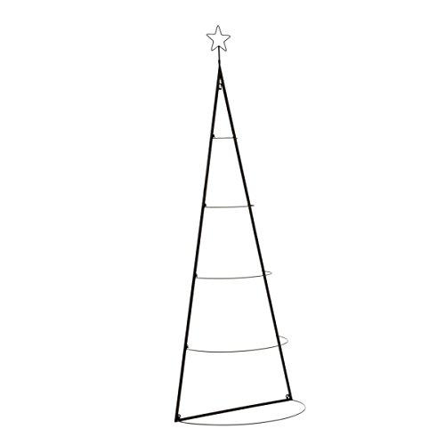 Pureday Decorazione di Natale - Muro Oggetto Albero di Natale - Metallo - Altezza Circa 160 cm