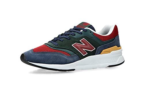 New Balance 997h Core Trainers - Zapatillas deportivas para hombre, Negro Esmeralda Borgoña, 41.5 EU