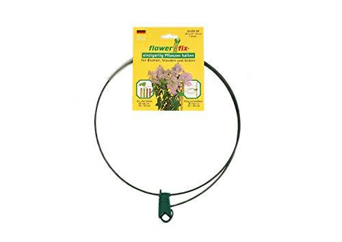 flowerfix 2er Set Pflanzenhalter Staudenhalter | individuell verstellbar | robust und witterungsbeständig | perfekt für Stauden, Sträucher, Blumen und Gräser | M von Ø25-45cm |