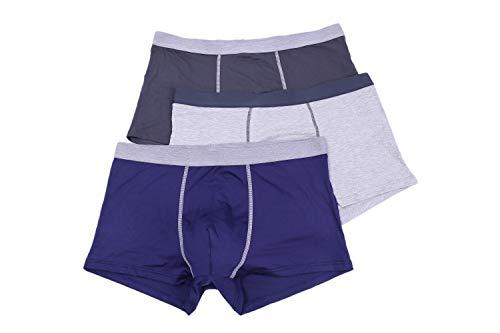 GLHAO Men's Trunk,3-Pack Model Fiber Stretch Cotton Underwear (X-Large)