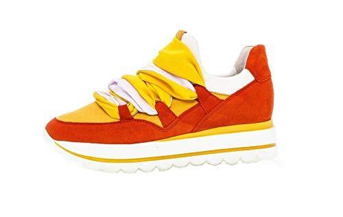 Gabor Zapatillas para mujer de color coral, blanco, piel de ante multicolor, tallas 37,5 hasta 40, color Multicolor, talla 40 EU