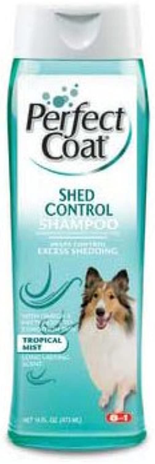 Perfect Coat Shed Control Shampoo 16oz by 8 In 1 Pet Products