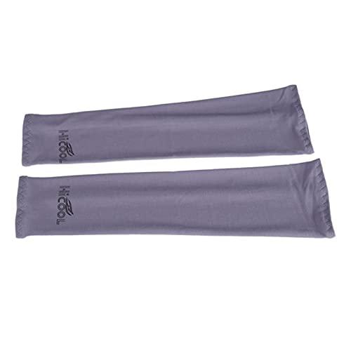 ZYNS Funda de protección solar 2 pares de mangas de enfriamiento para hombres y mujeres UV protección solar para golf ciclismo running al aire libre protección brazo manga