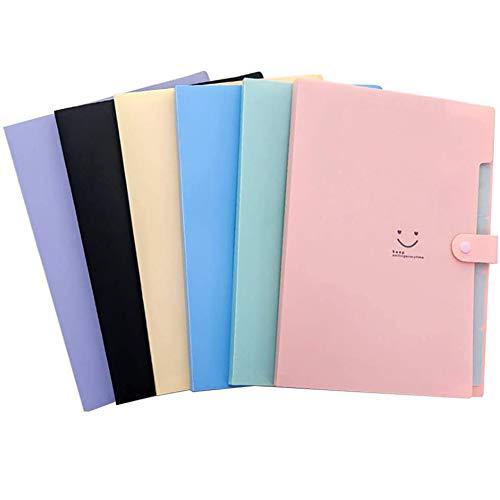 Expandable Document Folder, File Folder Expansion, 5 pocket, A4 formaat, voor school en kantoor,A4