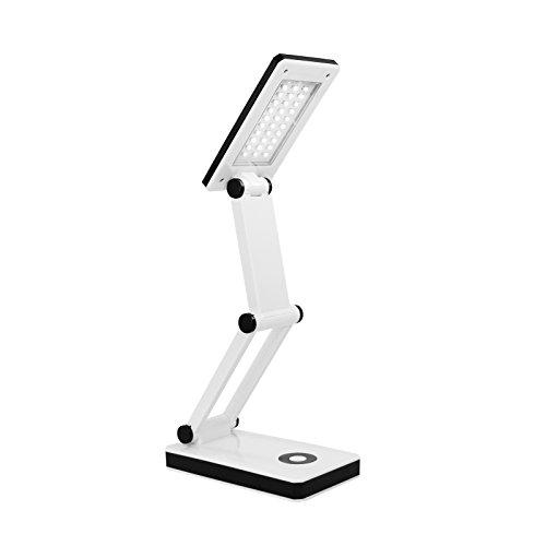 DESIGNER SMD LED Schreibtischlampe Desk Lamp, hellweiß mit 30 LEDS EAXUS